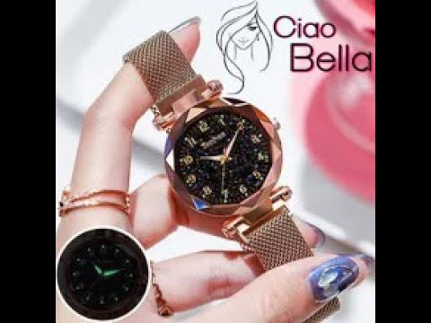 Luxury Women Ladies Magnetic Starry  Diamond Female Quartz Wristwatch