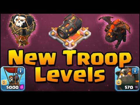 Clash Of Clans - NEW UPDATE Sneak Peek! Level 7 Balloon, Level 4 Lava Hound, Level 14 Cannon!