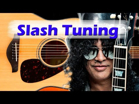 Slash Guitar Tuning  – half step down – Eb tuning or D# tuning
