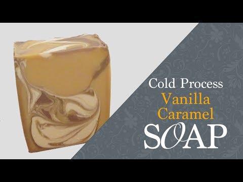 Vanilla Caramel Soap, Cold Process Soap Making and Cutting