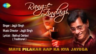 Maye Pilakar Aap Ka Kya Jayega Ghazal Song Jagjit Singh