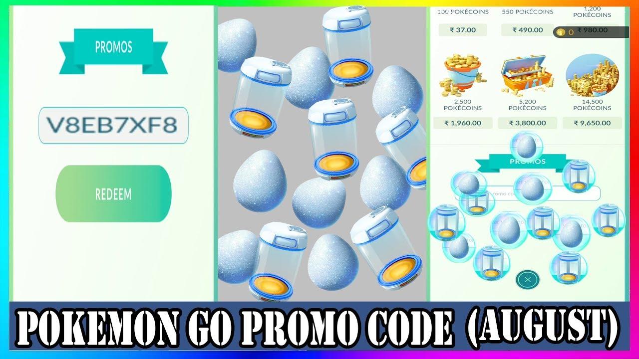 pokemon go promo code 2018 august youtube