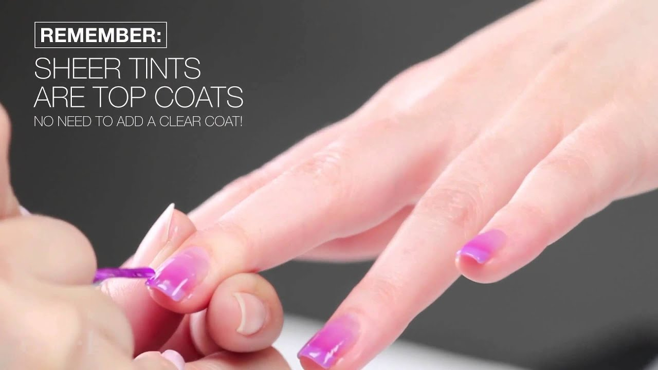 OPI Sheer Tints Tutorial Easy Ombre Nail Art - YouTube