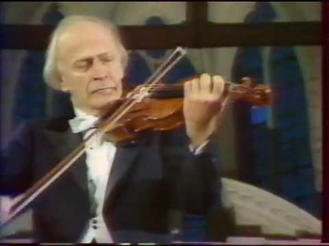 Yehudi Menuhin plays Bach E major violin concerto