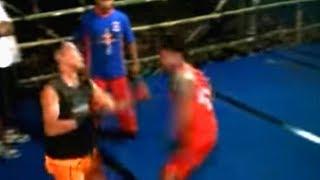 Pencak Dor Arf TKO jago kandang Kenting VS Petinju Hondolan Syamsul Hadi