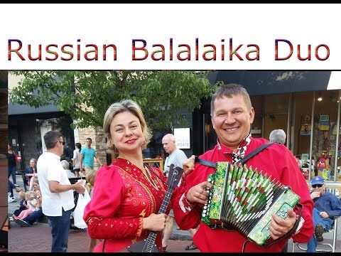 Rego Park, NY. Russian balalaika dance and music duo school assembly, New York
