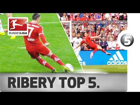 Franck Ribery - Top 5 Goals - Updated