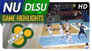 nu vs dlsu   game highlights   uaap 80 men s basketball   sept 16 2017