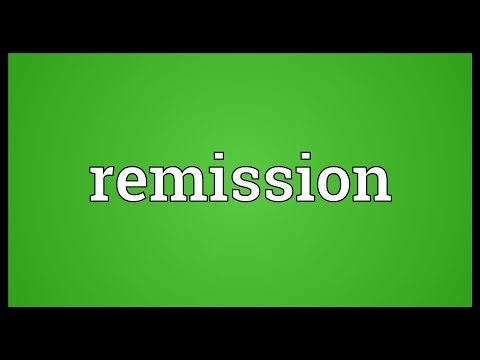 Remission Meaning