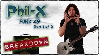 How to Play - Phil-X - Marty Schwartz - Funk # 49 - Guitar Solo - GuitarBrekdown - Guitar Lesson