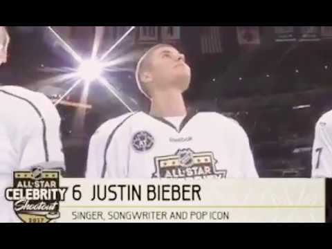 Justin Bieber At The NHL Celebrity All Star Game In Los Angeles, California