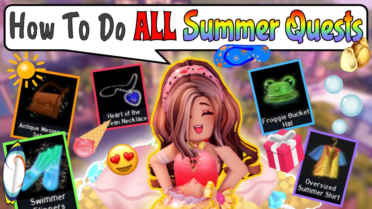 HOW TO COMPLETE ALL ROYALE HIGH SUMMER QUESTS❗️Tips & Tricks For EACH QUEST (Timestamps In Desc.)