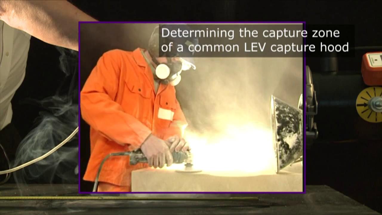 determining the capture zone local exhaust ventilation lev