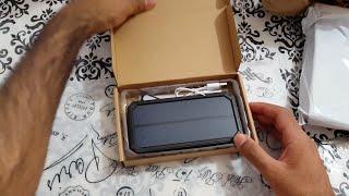 Х-дракон 15000mAh Банк харчування Сонячне зарядний пристрій розпакування