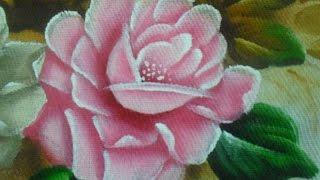 Como pintar Rosa na cor Rosa em tecido