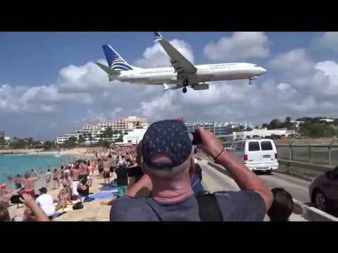 United Flight Landing At Princess Julianna International Airport In St Maarten Youtube