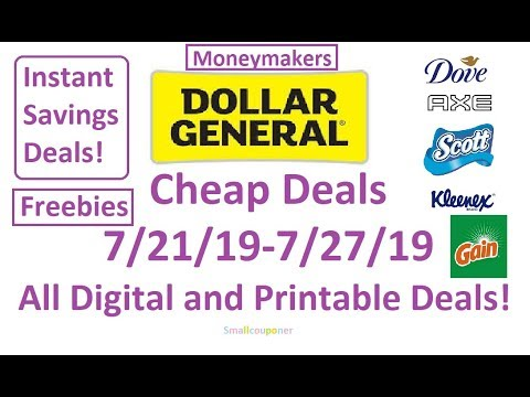 Dollar General Cheap Deals 7/21/19-7/27/19! All Digital And Printable Deals!