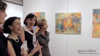 Agora Gallery, Chelsea, NYC, Art Gallery Video. The works of Maguel Ahliksander