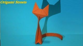 Как сделать кошку из бумаги. Оригами кошка. Origami cat(Как сделать кошку из бумаги. Оригами кошка., 2016-12-01T04:15:24.000Z)