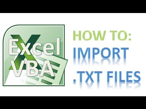 How to Import Text (.txt) Files Into Excel - Excel VBA Tutorial - Awesome!!