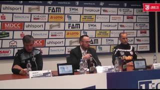 Pressekonferenz nach dem 32. Spieltag gegen den 1. FC Magdeburg