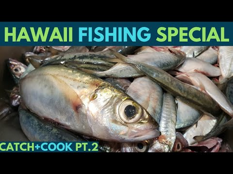Hawaii Fishing Akule/Halalu Catch+Cook(1K Giveaway Special) Part 2