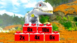 LEGO Jurassic World All Stud Multiplier Red Brick Locations 2x 4x 6x 8x 10x