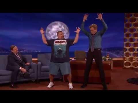 Gabriel Iglesias Teaches Conan DDP YOGA @ TeamCoco