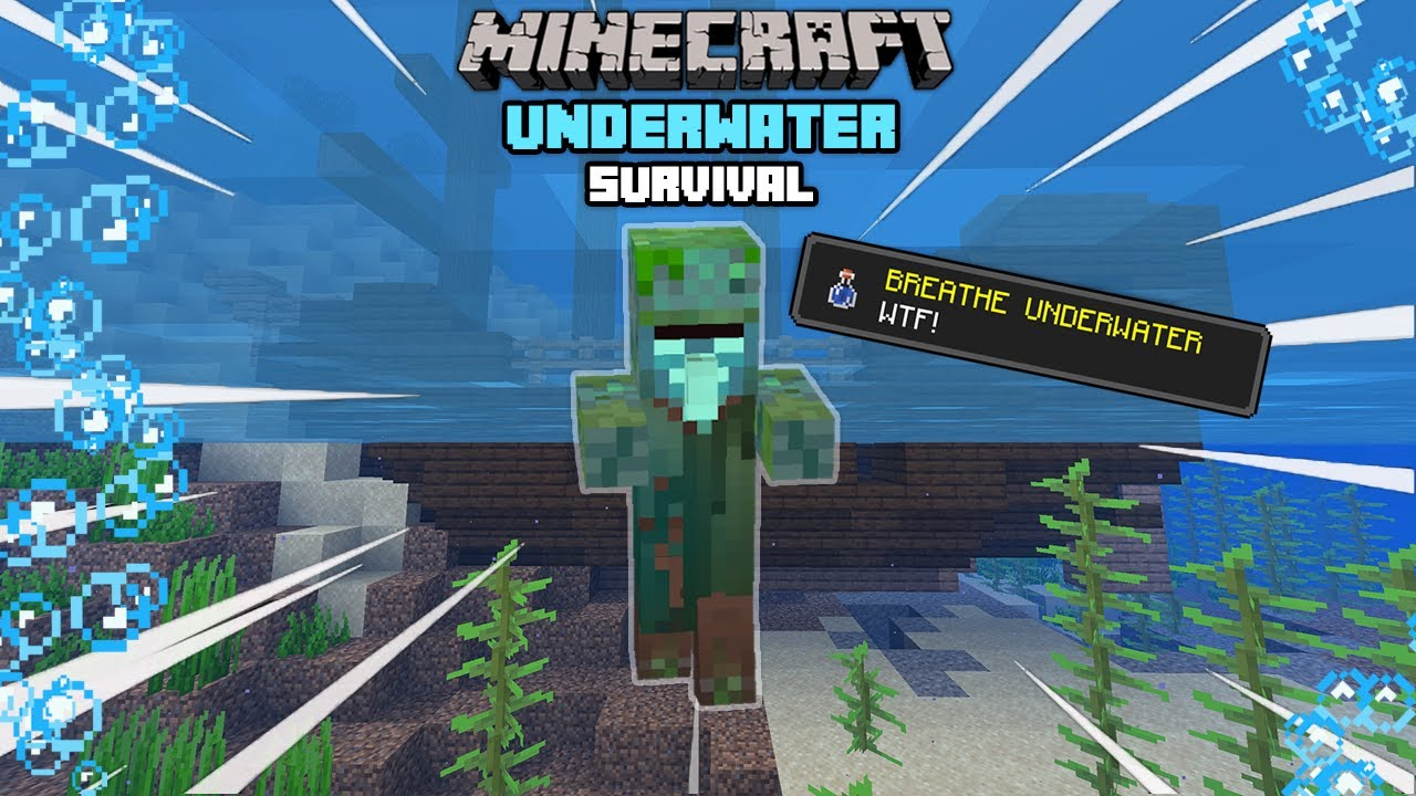 Minecraft Survival But You Can Only Breathe Underwater Youtube