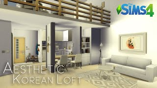 AESTHETIC KOREAN APARTMENT | No CC | The Sims 4 | Stop-motion speed build