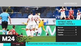 Сборная России по футболу сыграла вничью с командой Турции в Лиге наций Москва 24