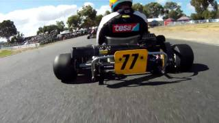 2011 Australian Karting Championships, Clubman Heavy Heat 2, onboard Simon Gwilliam