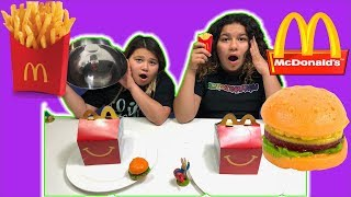 McDonald's GUMMY FOOD VS REAL FOOD CHALLENGE
