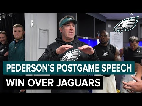 Doug Pederson's Postgame Speech After Win Over The Jaguars | Philadelphia Eagles