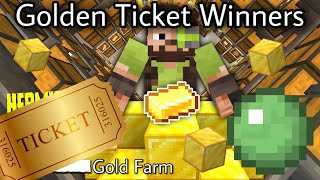 ALL Golden Ticket Winners (with reactions) Iskall's Gold/XP Farm | Hermitcraft Season 7
