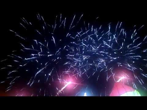 Synchronized fireworks show Manila, Philippines.