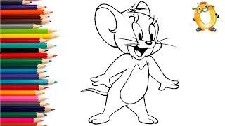 Раскраска для детей ГЕРОИ МУЛЬТИКА Том и Джерри.