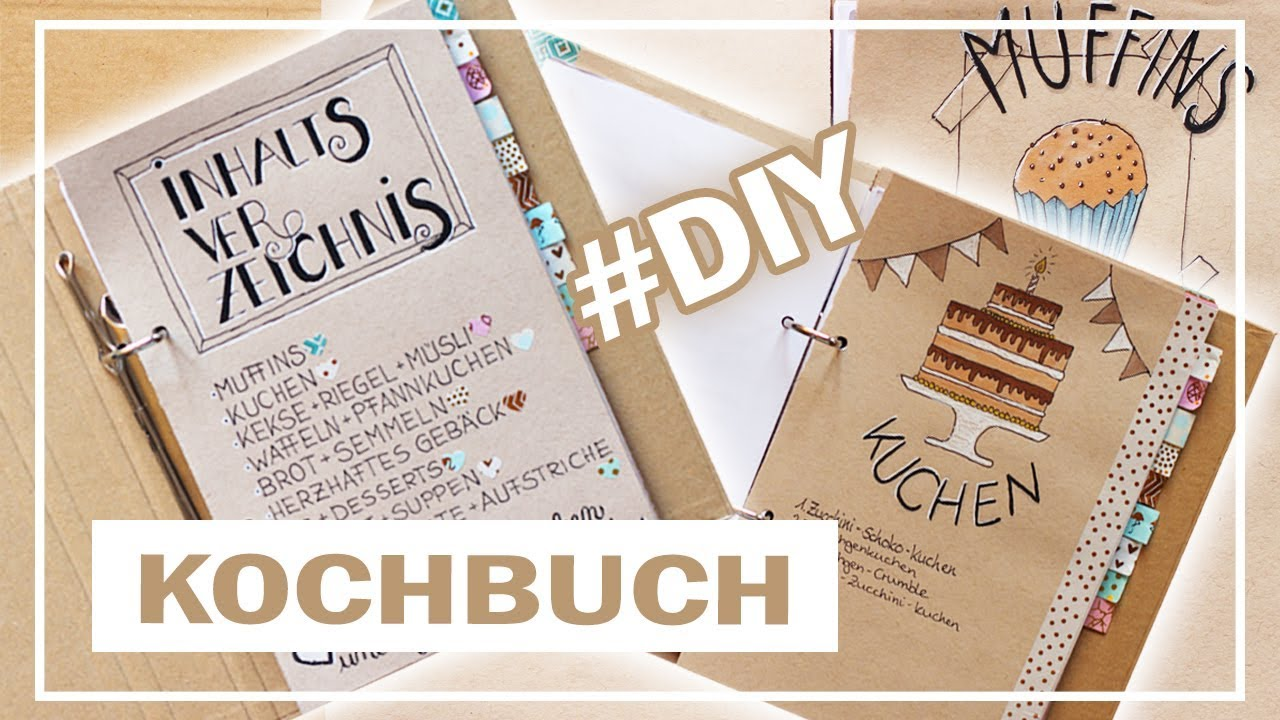 diy kochbuch backbuch selber machen inspiration zum nachmachen youtube. Black Bedroom Furniture Sets. Home Design Ideas