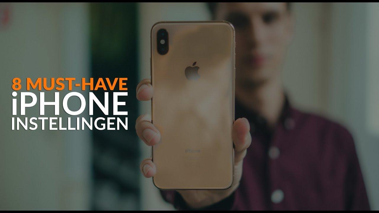 8 iPhone-instellingen die iedereen aan moet passen
