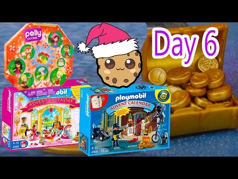 Polly Pocket, Playmobil Holiday Christmas Advent Calendar Day 6 Toy Surprise Opening Video
