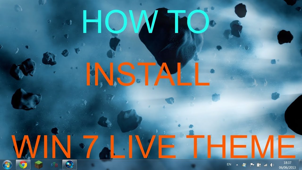 How To install live wallpapers on windows 7 - YouTube