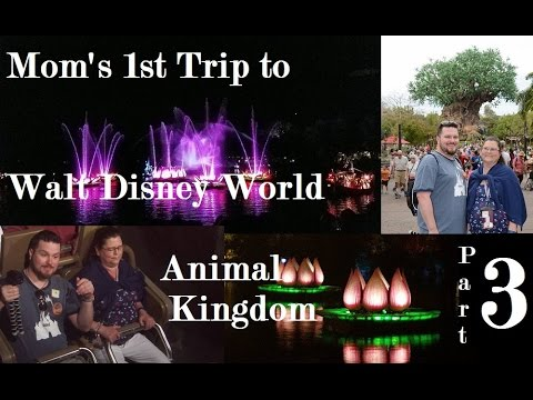 Rivers of Light, Everest, Safari - Mom's 1st Walt Disney World trip continues.