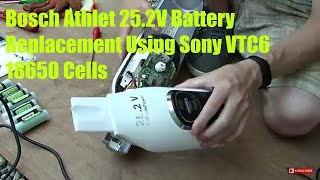 bosch Athlet Vacuum Cleaner Lithium Battery Replacement Using Sony 18650 VTC6 Cells