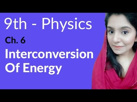 Interconversion of Energy - Physics Chapter 6 Work and Energy - 9th Class