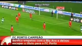 Rio Ave - Benfica 2-2 - Golos e Resumo do Jogo [29/04/2012]