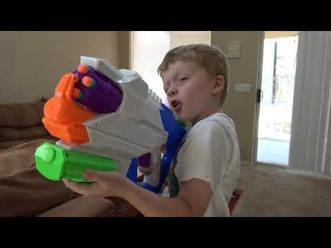 Nerf Gun Prank Wars Part Three! Ethan and Cole Trick and Attack with Nerf Blasters and Super Soakers