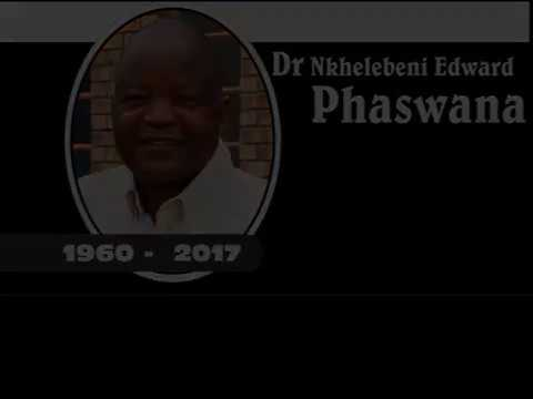 Dr N.E Phaswana - How South  Africans have been given a life line
