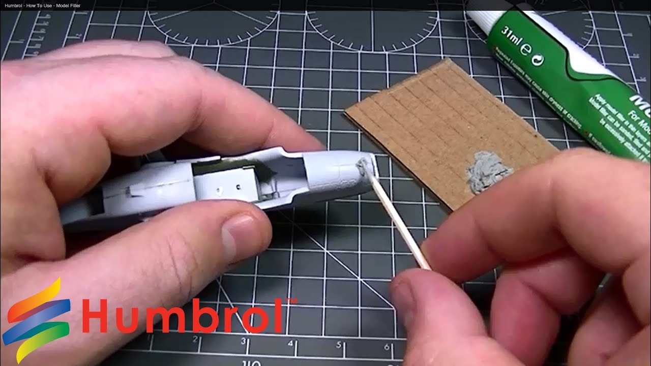 Humbrol   How To Use   Model Filler   YouTube