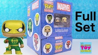 Funko Marvel Pocket Pop Keychain Mystery Blind Bag Unboxing Full Set | Pstoyreviews