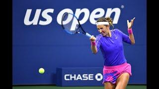 Victoria Azarenka vs Elise Mertens | US Open 2020 Quarterfinal